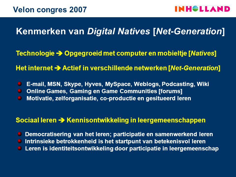 Kenmerken van Digital Natives [Net-Generation]